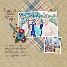 """""""Friends"""" digital scrapbooking layout using Cozy Autumn Collection Mini."""