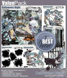 Value Pack : Halloween Night by florju designs