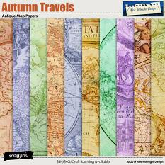 Autumn Travels Papers by Aftermidnight Design