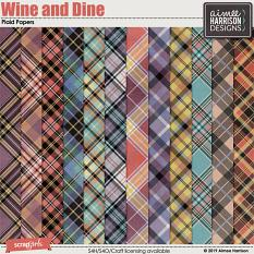 Wine and Dine Plaid Papers