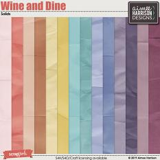 Wine and Dine Solid Papers