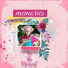 Layout using ScrapSimple Digital Layout Templates:In The Moment