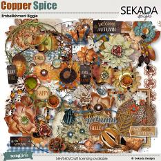 Copper Spice Embellishment Biggie
