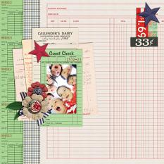 Digital Scrapbooking Layout by Emily Abramson