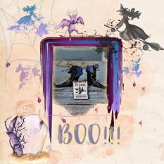 Layout using ScrapSimple Digital Layout Collection:Boo!!!
