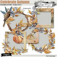 Celebrate Autumn Embellishment Mini : Clusters pack 1 by Florju Designs