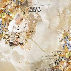 layout using Celebrate Autumn french Word art by Florju Designs