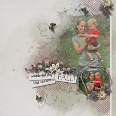Layout using ScrapSimple Digital Layout Collection:This Season