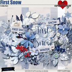 ScrapSimple Digital Layout Collection:First Snow