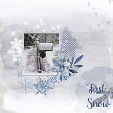 Layout using ScrapSimple Digital Layout Collection:First Snow