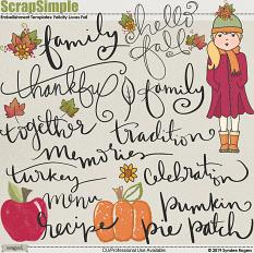 Felicity Loves Fall embellishment templates and graphics