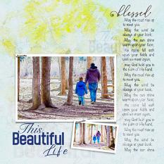 """""""Blessed"""" digital scrapbook layout showcases Brush Set: Blessed Life"""