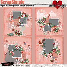 ScrapSimple Digital Layout Templates:A prelude to Christmas