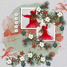 Layout using ScrapSimple Digital Layout Templates:A prelude to Christmas