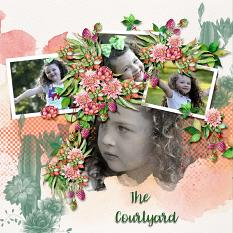 Layout using ScrapSimple Digital Layout Templates:In The Courtyard