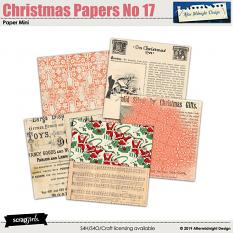 Christmas Papers No 17 by Aftermidnight Design