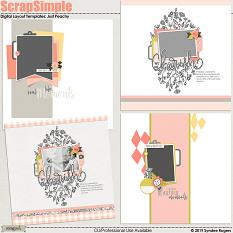 Just Peachy Digital Layout Templates