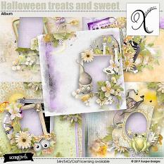 Halloween treats and sweet Easy page