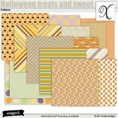 Halloween treats and sweet Patterned papers