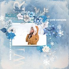 Layout using ScrapSimple Digital Layout Templates:Cold!!Cold!!