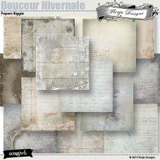 layout using Douceur Hivernale Papers Biggie by Florju designs