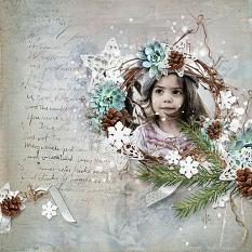 layout using Douceur Hivernale Collection by Florju Designs