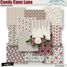 Candy Cane Lane Patterned Papers
