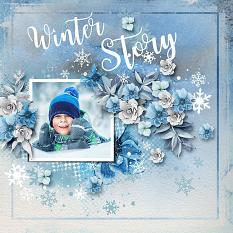 Layout using ScrapSimple Digital Layout Collection:Cold!!Cold!!