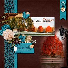 the Bradford Pears layout using  Changing Colors Collection Mini
