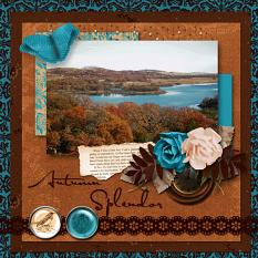 Autumn Splendor layout using  Changing Colors Collection Mini