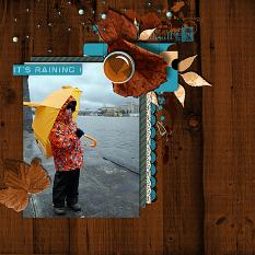 Raining layout  using Changing Colors Collection