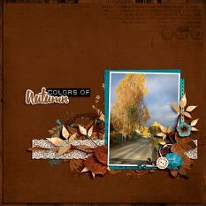 Autumn Road layout  using  Value Pack: Changing Colors