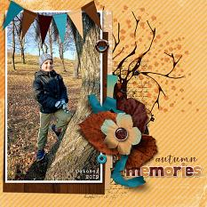 Autumn Memories  layout  using  Value Pack: Changing Colors