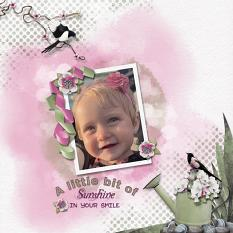 Layout using ScrapSimple Digital Layout Collection:A little bit of life