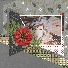 Winter layout using ScrapSimple Paper Templates: Modern Mix