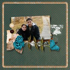Together layout using Dancing leaves Artistic Blends