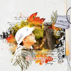 dreaming layout using Dancing leaves Artistic Blends