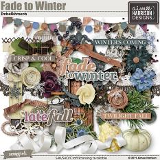 Fade to Winter Embellishments