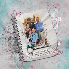 Family layout using Loving you... Embellishments