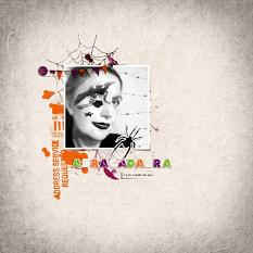 Abracadabra layout using Bewitched Word Strips
