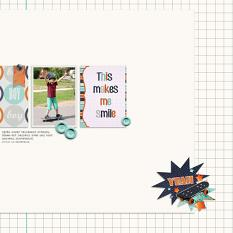 Yeah!  layout using Boy, Oh Boy! Collection Mini