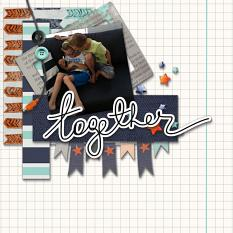 Together  layout using Boy, Oh Boy! Collection Mini