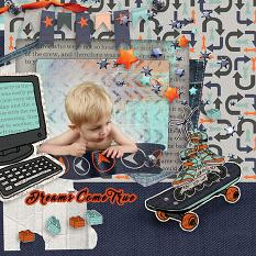 Dreams come true  layout using Boy, Oh Boy! Collection Mini