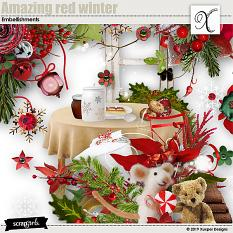 Amazing red winter Embellishments