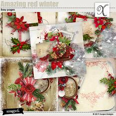 Amazing red winter Easy pages