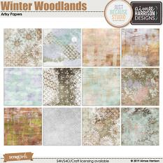 Winter Woodlands Artsy Papers
