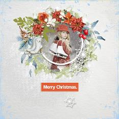 Layout using ScrapSimple Digital Layout Templates:Holly Jolly