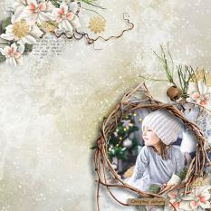 layout using Enchanted Xmas Papers Biggie by Florju designs