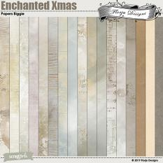 layout using Enchanted Xmas Collection Biggie by Florju Designs