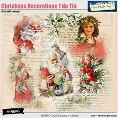 Christmas Decorations 1 No 17a by Aftermidnight Design